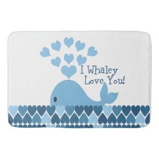I whaley love you bath mat