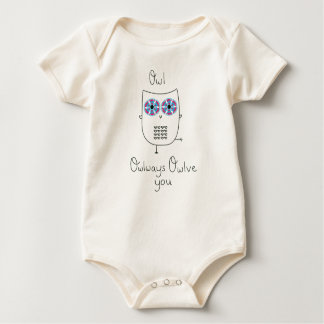 I will Always Love You Owl Shirt- Illustrated Owl Baby Bodysuit
