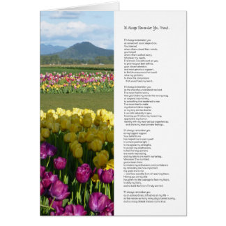 I Will Always Remember You, Friend... Greeting Card