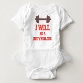 I will be a Bodybuilder Baby Bodysuit