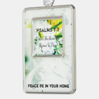 I Will Be Glad And Rejoice In Thee Silver Plated Framed Ornament