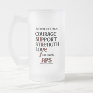 I will beat APS Frosted Glass Beer Mug