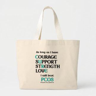 I will beat PCOS Jumbo Tote Bag
