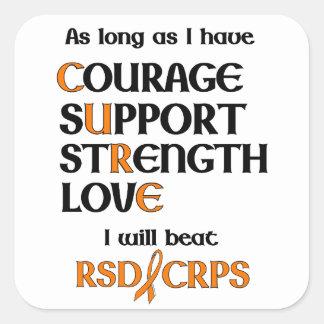 I will beat RSD/CRPS Square Sticker