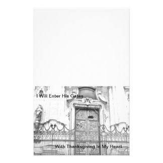 I Will Enter His Gates Personalised Stationery
