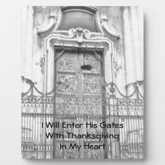 I Will Enter His Gates Photo Plaque