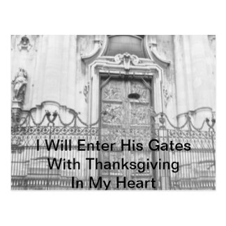 I Will Enter His Gates Postcard