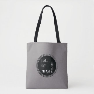 I will give you rest Christian Verse Tote Bag