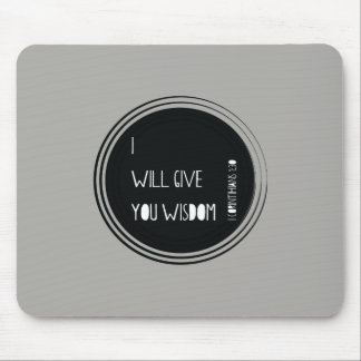 I will give you wisdom Christian Verse Mouse Pad