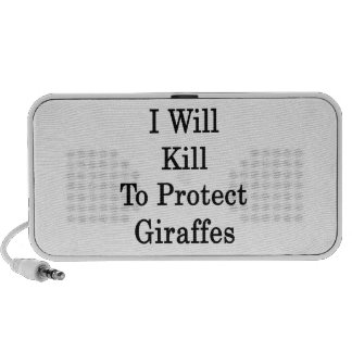 I Will Kill To Protect Giraffes iPod Speakers