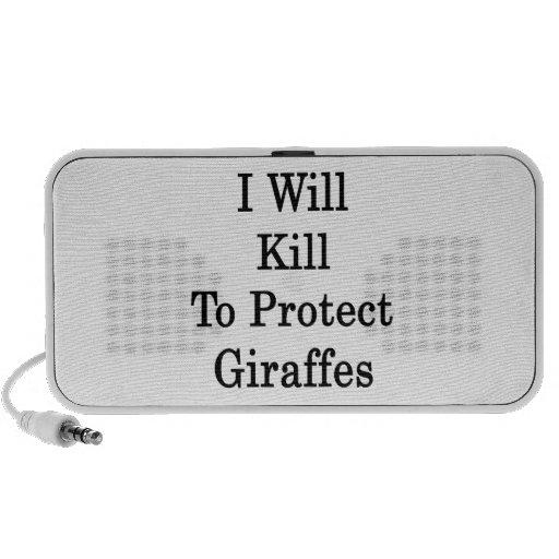 I Will Kill To Protect Giraffes iPod Speakers