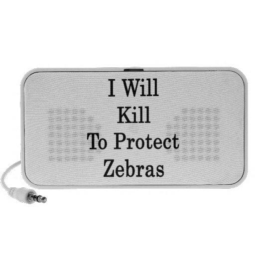 I Will Kill To Protect Zebras Speaker