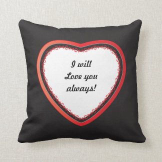 I will Love you Always, DIY Text Throw Pillow