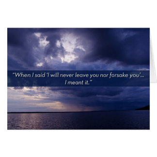 I will never leave you nor forsake you card