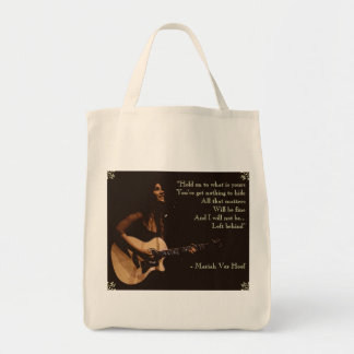 """""""I will not be Left Behind"""" Grocery Tote Grocery Tote Bag"""