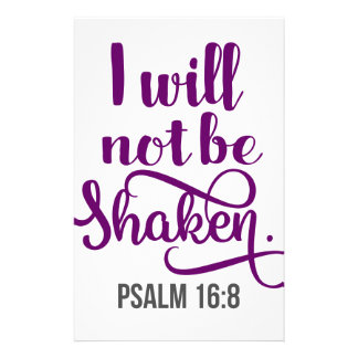 I WILL NOT BE SHAKEN STATIONERY