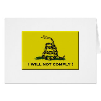 I will not comply card