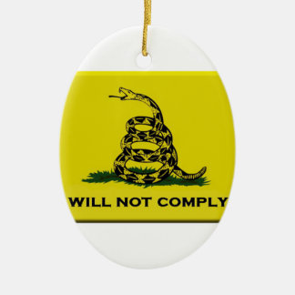 I will not comply ceramic oval decoration