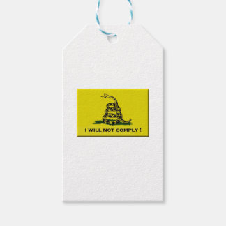 I will not comply gift tags