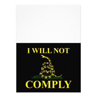 I Will Not Comply Personalized Announcements