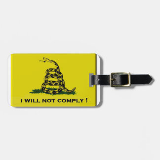 I will not comply luggage tag