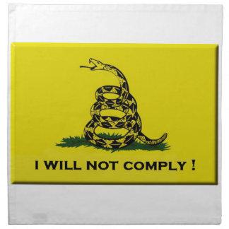 I will not comply napkin