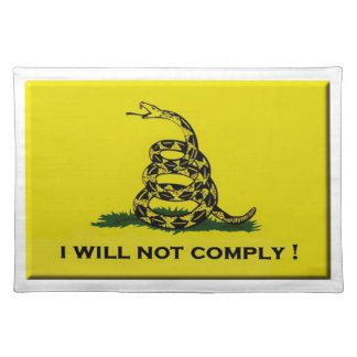 I will not comply placemat