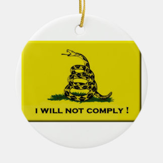 I will not comply round ceramic decoration