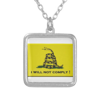 I will not comply silver plated necklace