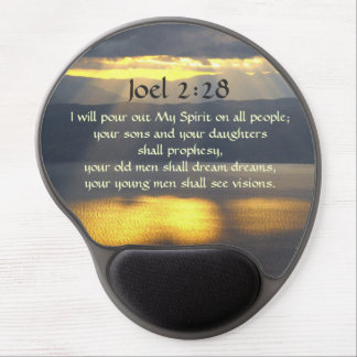 I will pour out My Spirit Joel 2 28, Bible Verse Gel Mouse Pad