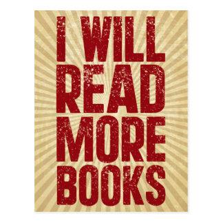 I Will Read More books Postcard