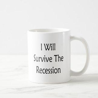 I Will Survive The Recession Mugs