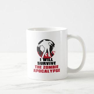 I Will Survive The Zombie Apocalypse Coffee Mug