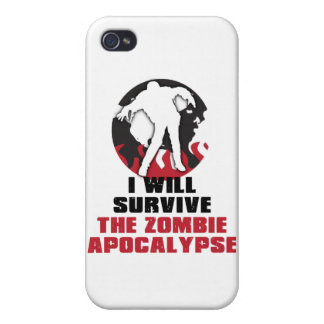 I Will Survive The Zombie Apocalypse iPhone 4 Covers
