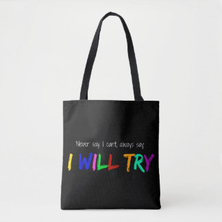 I will try tote bag
