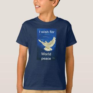 I WISH FOR WORLD PEACE,WHITE DOVE,TEE T-Shirt