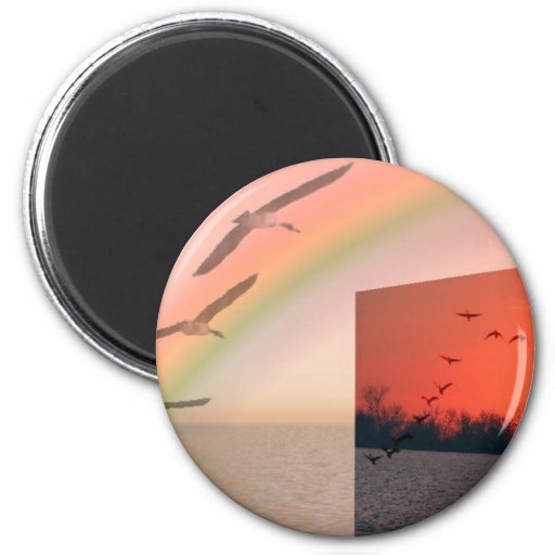 I wish I could fly Refrigerator Magnet