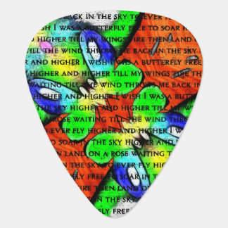 I Wish I Was A Butterfly2 Guitar Pick