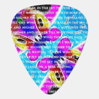 I Wish I Was A Butterfly Plectrum