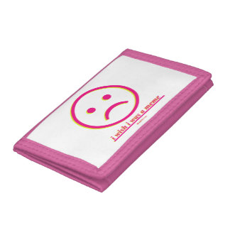 """""""I Wish I Was A Meme"""" - Pink TriFold Nylon Wallet"""