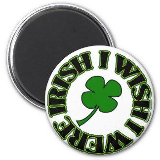 I Wish I Were Irish (black/green) Fridge Magnet