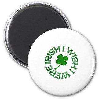 I Wish I Were Irish (green) Refrigerator Magnets
