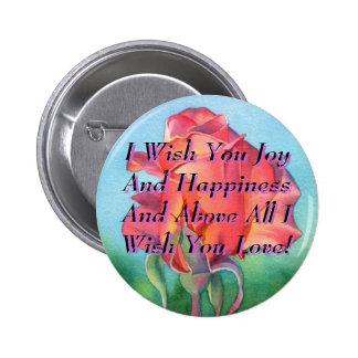 I Wish You Joy 6 Cm Round Badge