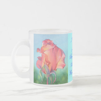 I Wish You Joy Frosted Glass Coffee Mug