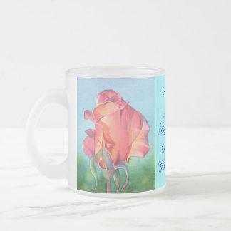 I Wish You Joy Frosted Glass Mug