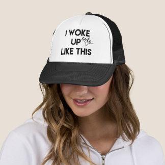I Woke Up - cute - Like This   Fun Quote Trucker Hat