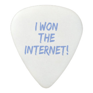 I Won the Internet - Choose Background Color Acetal Guitar Pick