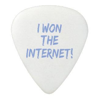 I Won the Internet - Choose Background Color Acetal Guitar Pick