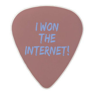I Won the Internet - Red Background Acetal Guitar Pick