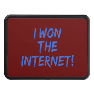 I Won the Internet - Red Background Tow Hitch Cover